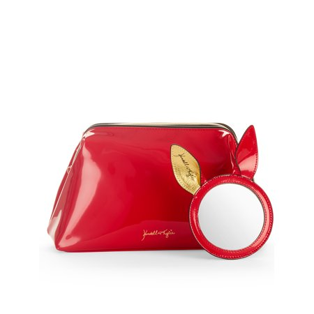 Kendall + Kylie for Walmart Katie Red Patent Cosmetic Bag & Mirror