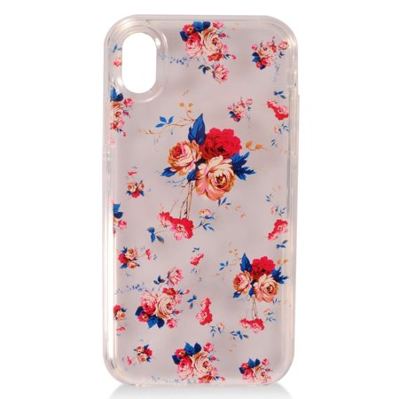 Apple iPhone XS Max Case, by Insten 2 In 1 Hybrid Roses Dual Layer TPU Rubber Candy Skin Case Cover For Apple iPhone XS Max](70s Candy)