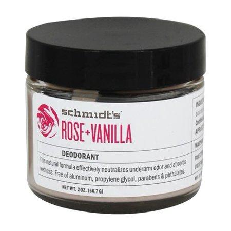 Natural Deodorant Jar Rose + Vanilla - 2 oz. by Schmidt's (pack of