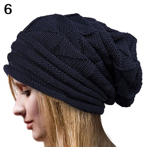 dec25c68cdb58b Girl12Queen - Moderna Men's Women's Winter Solid Color Knit Oversize Ski  Slouchy Cap Baggy Beanie Hat - Walmart.com