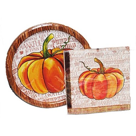Napkins And Plates (watercolor pumpkin lunch plates and napkins for)
