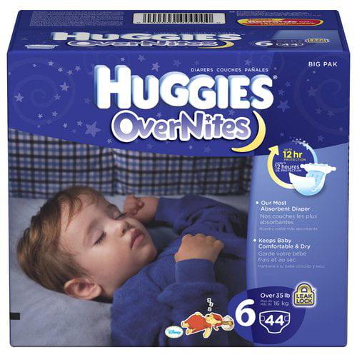 Huggies Overnites Disney Winnie The Pooh Diapers Size 6, 44 ct