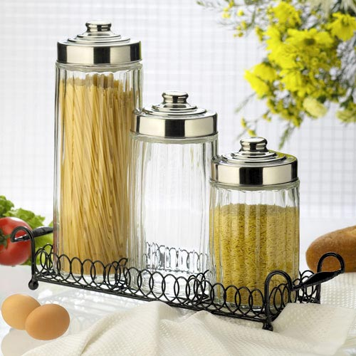 amici round canisters set of 3 with stand walmart com