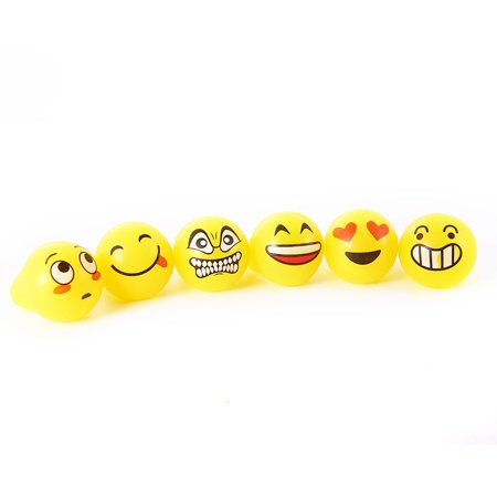 Flashing Emoji LED Bumpy Rings, 40x30mm, 24 Pieces, Light Up Finger Toys Party Favors (Emoji Ring)
