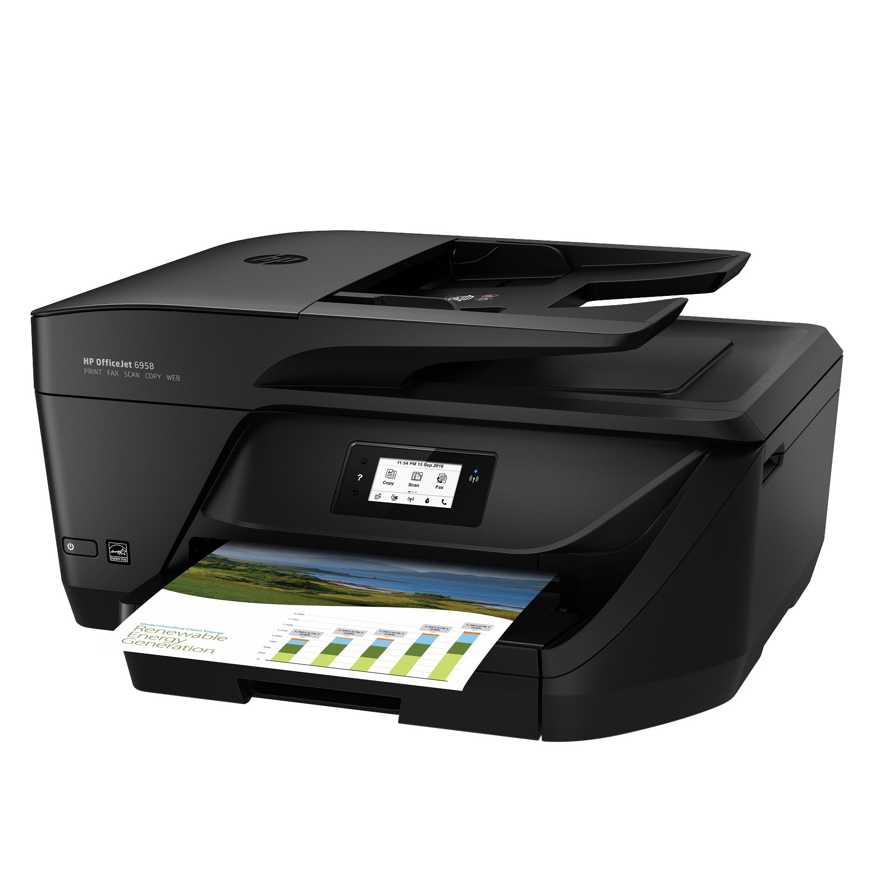 HP Officejet Pro 6958 All-in-One Color Inkjet Printer by HP
