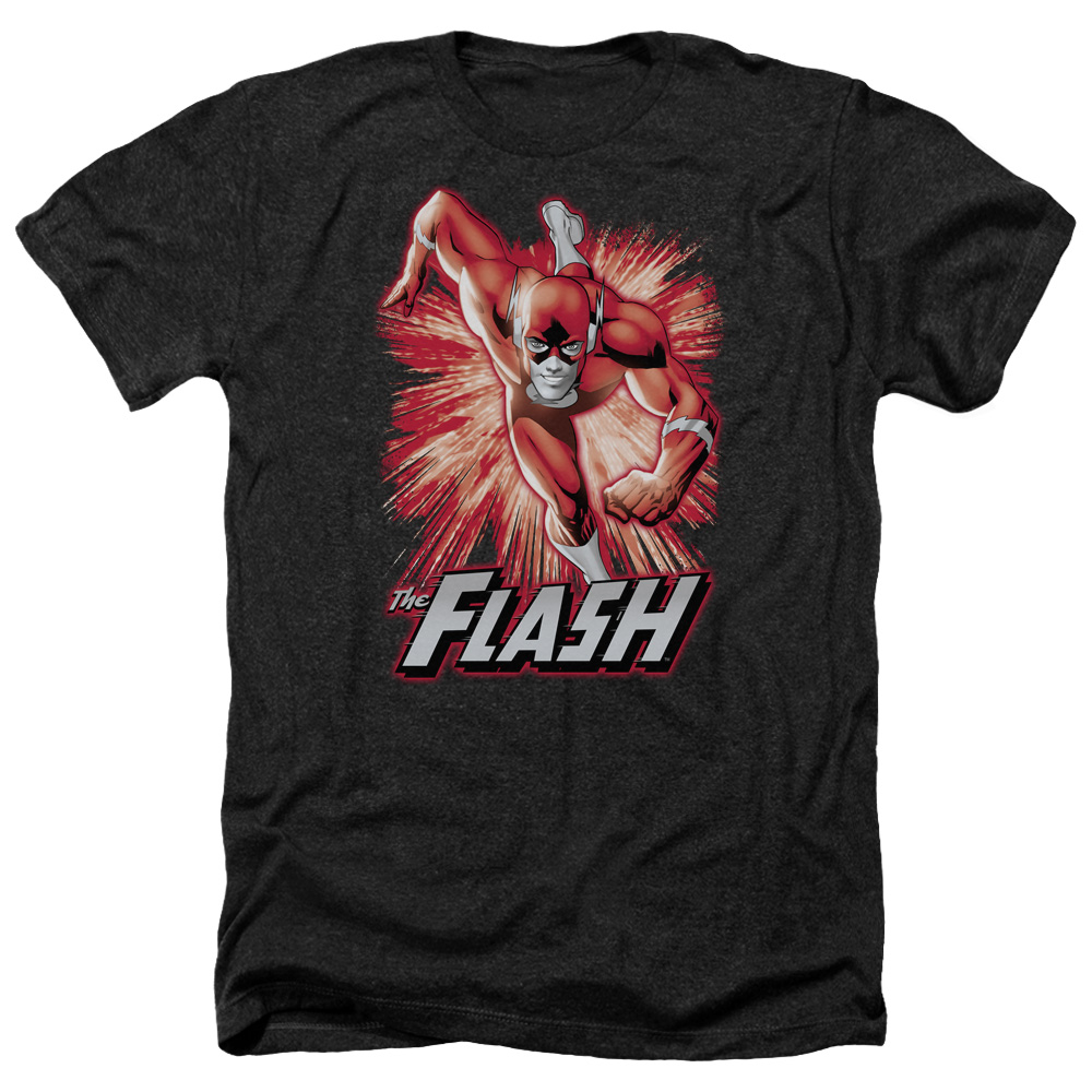 Jla Flash Red & Gray Mens Heather Shirt
