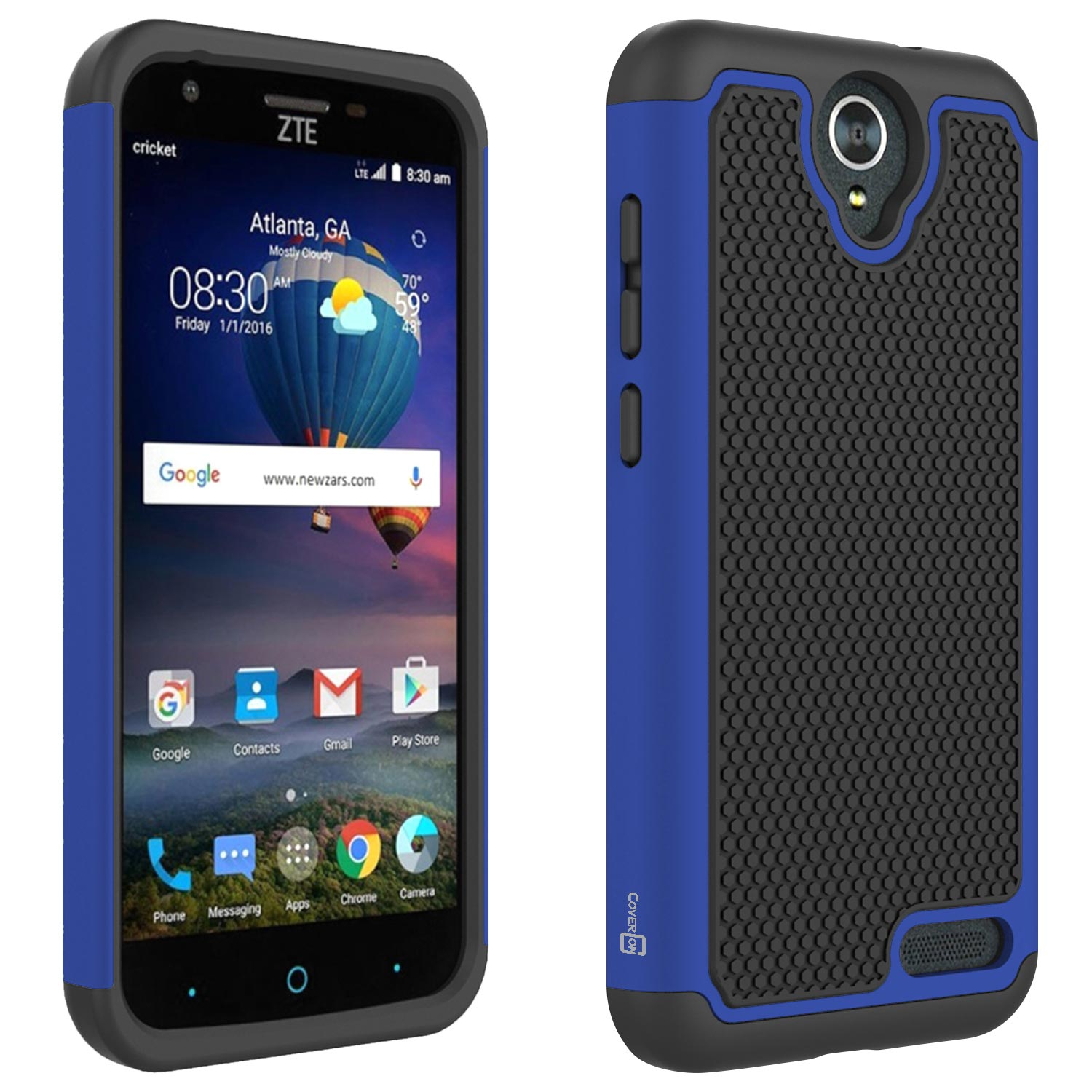 pretty nice 082bc 16ef6 CoverON ZTE ZMax Champ 4G LTE / ZMax Grand LTE / Avid 916 Case, HexaGuard  Series Hard Phone Cover