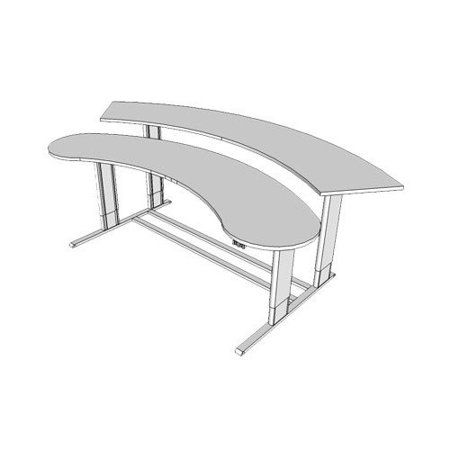 Tasteful Populas Infinity Adjustable Command Center Arch Training Table Recommended Item
