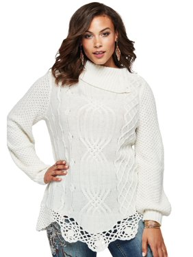 93f3a1ce4dc Product Image Plus Size Cable Sweater By Denim 24 7