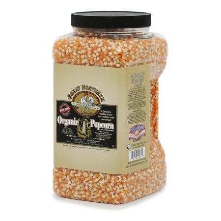 Gourmet Organic Popcorn (Great Northern Popcorn Organic Yellow Gourmet Popcorn All Natural, 7 Pounds)