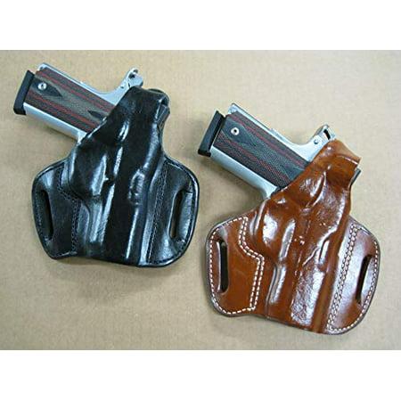 Azula Gun Holsters Leather 2 Slot Molded Thumb Break Pancake Leather Pistol Holster for Colt 1911 Full Size 5