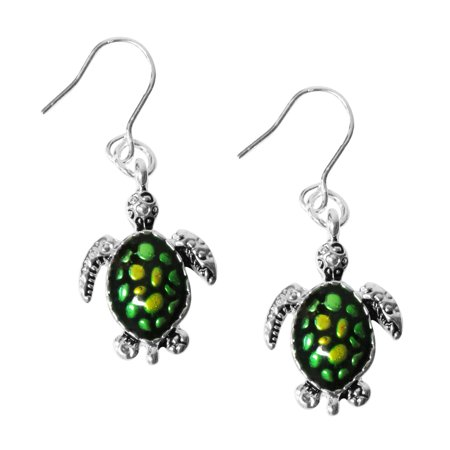 Elegant Dangle (Evelots Green Turtle Dangle Earrings Elegant & Decorative Pierced)