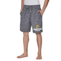 Men's Concepts Sport Charcoal Pittsburgh Pirates Handshake Fleece Jam Shorts