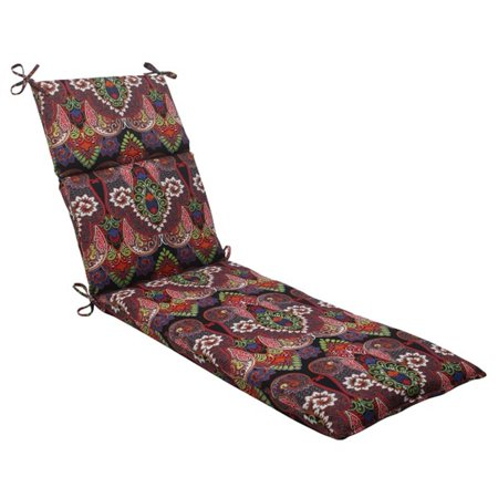 72 5 black paisely maze outdoor patio chaise lounge for 23 w outdoor cushion for chaise