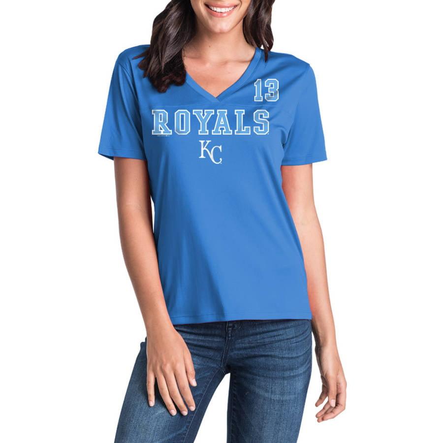MLB Kansas City Royals Women's Salvador Perez Short Sleeve Player Tee