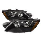 PERDE 2007-2011 Mazda CX-7 Halogen Black Housing Headlight Set with Performance Lens