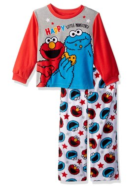 Product Image Sesame Street Elmo Cookie Monster Baby Boys 2-Piece Fleece  Pajamas 21SS278YLL f33b19e28