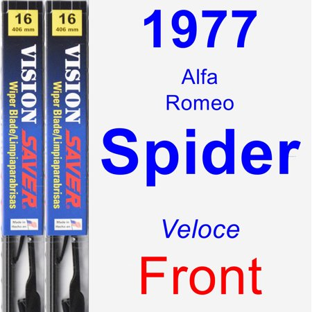 1977 Alfa Romeo Spider (Veloce) Wiper Blade Set/Kit (Front) (2 Blades) - Vision Saver