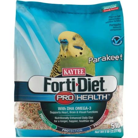 Kaytee Forti Diet Pro Health 100502100 Seed Based Blend Parakeet Bird Food  5 Lb