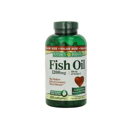 Nature's Bounty oméga-3 Huile de poisson 1200 mg gélules 320 bis (Paquet de 3)