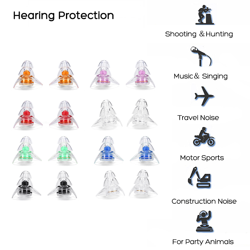 Noise Cancelling Earplugs Musicians Shooting Motorcycles Hearing Protection 20DB