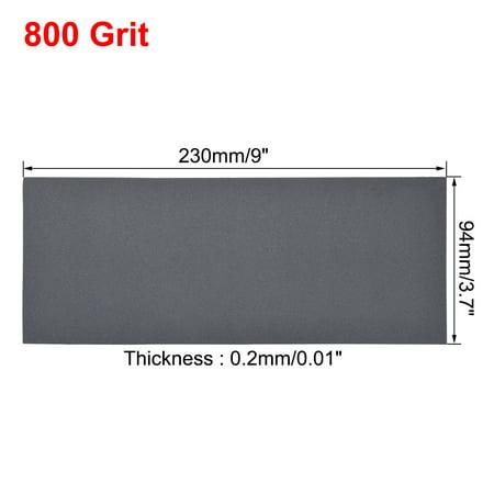 Waterproof Sandpaper, Wet Dry Sand Paper Grit of 800, 9 x 3.7inch 10pcs - image 2 de 5