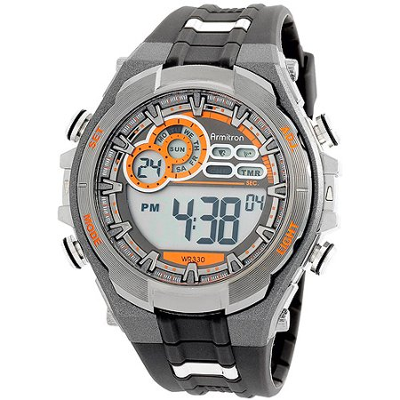 Armitron Men's Multi-Functional Digital Gray and Black Watch