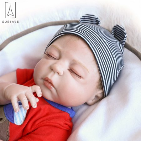 GustaveDesign Reborn Baby Dolls Real Full Body Silicone 22