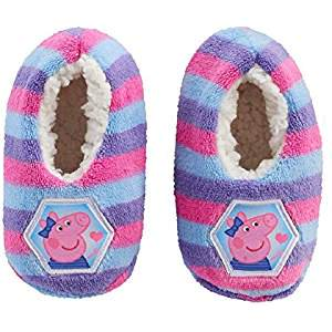 - Peppa Pig Slipper Sock For Girls Faux Fur Babba Toddler Size Fits Age 3T- 4T (Fits Toddler Ages 2T-3T)
