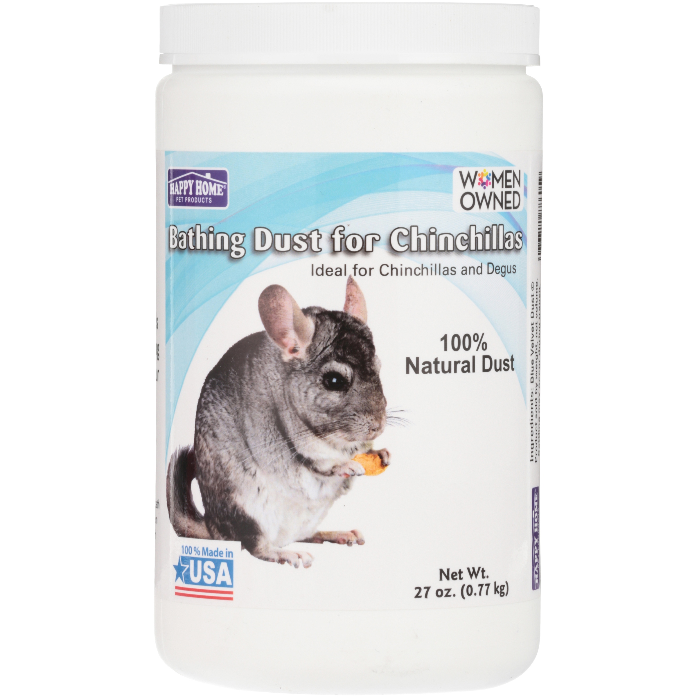 Happy Home® Bathing Dust for Chinchillas 27 oz. Jar