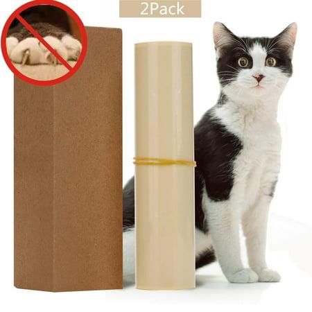 Cat Scratch Furniture Clear Premium Heavy Duty Flexible Vinyl Pet Couch Protector Guards for Protecting Your Furniture Stops Scratching Cats Furniture Protector(2PCS/Set) ()