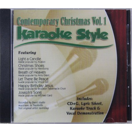 Contemporary Christian Songs (Contemporary Christmas Volume 1 Daywind Christian Karaoke Style NEW CD+G 6 Songs )