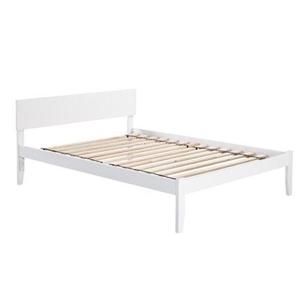 Atlantic Furniture Atlantic Orlando White Wood Queen Platform Bed ()