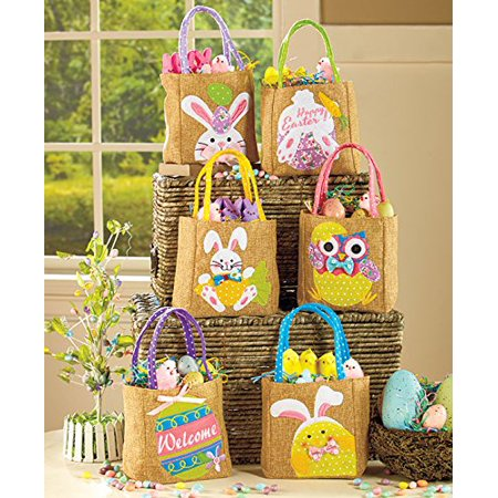 Sets of 6 Embellished Spring Treat Bags (Easter) (Easter Treat Ideas)