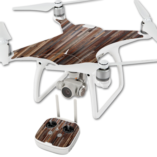 MightySkins Protective Vinyl Skin Decal for DJI Phantom 4 Quadcopter Drone wrap cover sticker skins Woody