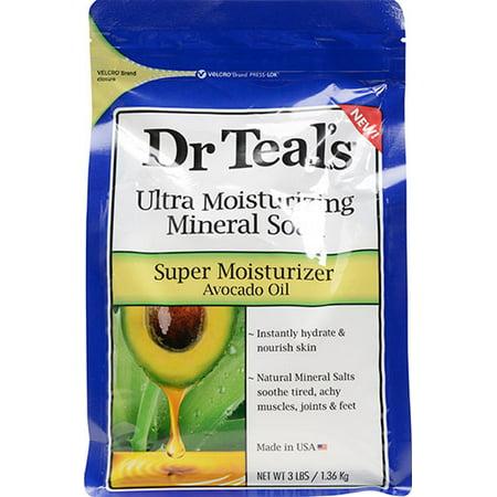 Dr Teals Super Moisturizer Avocado Oil Ultra Moisturizing Mineral Soak  3 Lbs