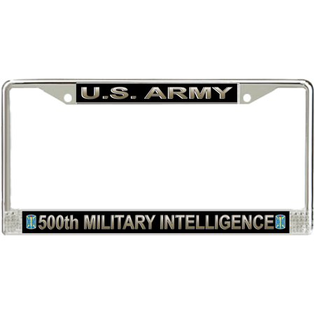 U.S. Army 500th Military Intelligence Brigade License Plate Frame