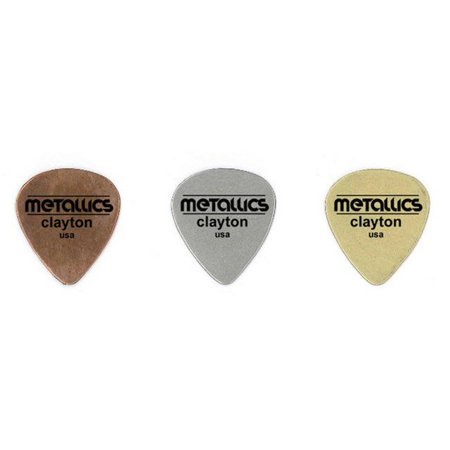 Clayton BMS-3 Brass Metallics Standard Guitar Picks, 3 Pieces - image 1 de 1