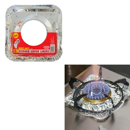 40 Aluminum Foil Square Gas Burner Disposable Stove Bib Liners Covers Wholesale for $<!---->