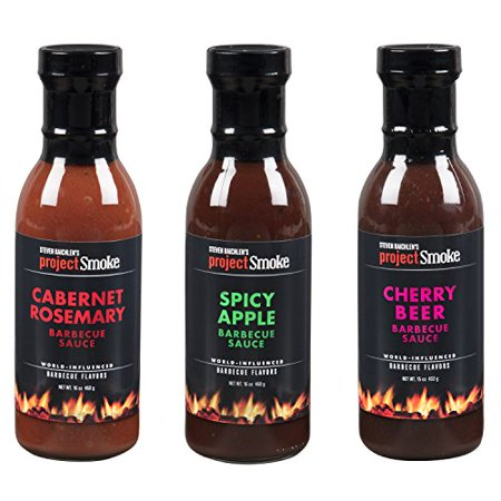 Grilling Sauce Set (Steven Raichlen Project Smoke BBQ Barbecue Sauce Combo Gift Pack- 3 Pack Summer Grilling Barbeque)