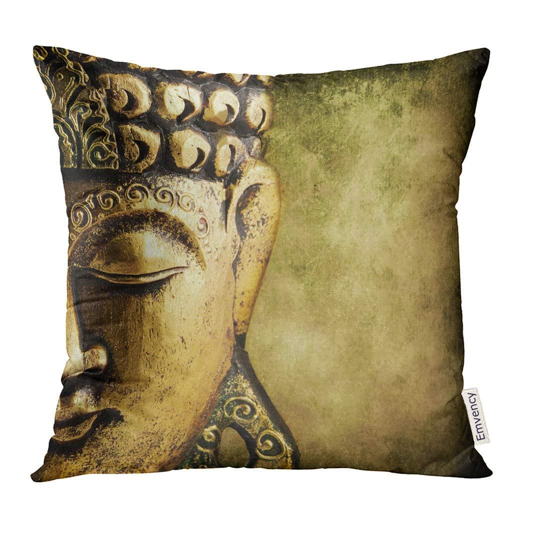 USART Buda Buddha Gold Buddhist Face Peace Freiheit Pillow Case 20x20 Inches Pillowcase