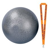 Champion Sports Bundle: 4k Iron Shot Put Silver-4Kilo with 1 Performall Lanyard IS4K-1P