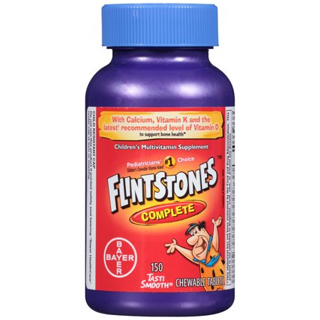 Flintstones Complete Chewable Children's Multivitamin Tablets, 150 Ct