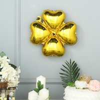 Efavormart 10 Pack Clover Leaf Aluminum Foil Mylar Balloon For Wedding Party Decoration