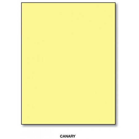 "Color Card Stock Paper, 8.5"" x 11"", 50 Sheets Per Pack - Canary"