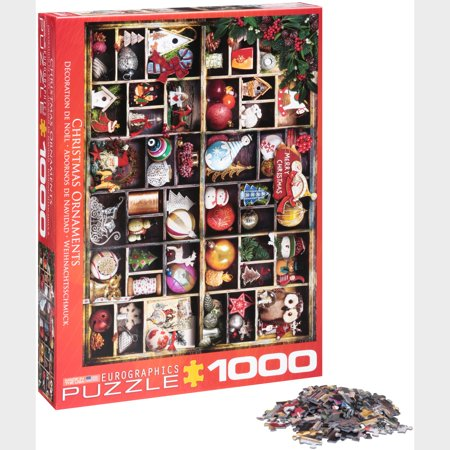 Christmas Ornaments 1000-Piece Puzzle - Puzzle Piece Ornaments