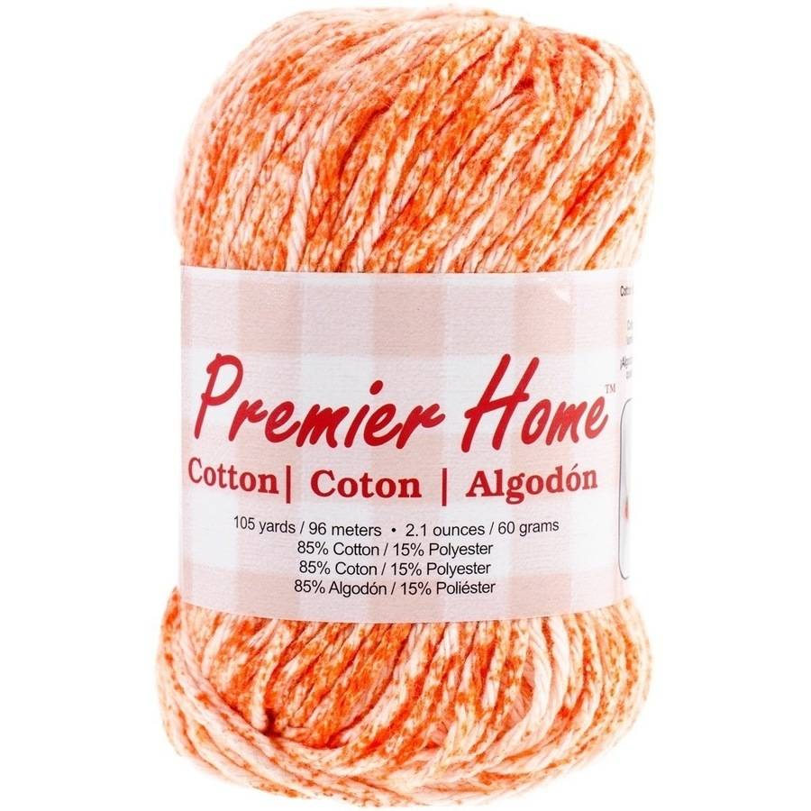 Home Cotton Yarn, Multicolored, Tangerine Splash