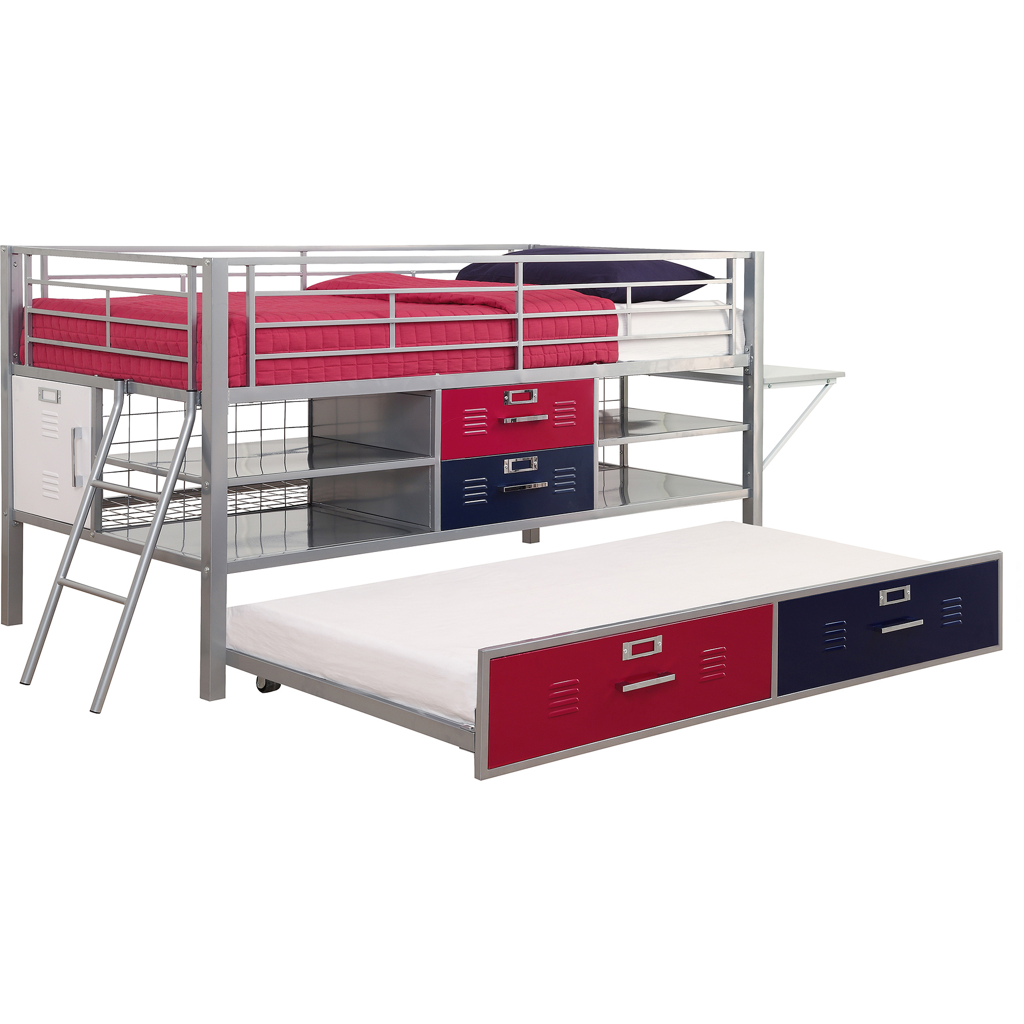 Dhp Junior Silver Locker Bed Twin Blue Red Best Loft