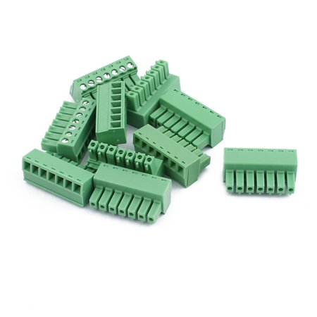10Pcs 300V 2EDGK 3 81mm Pitch 7-Pin PCB Screw Terminal Block Connector