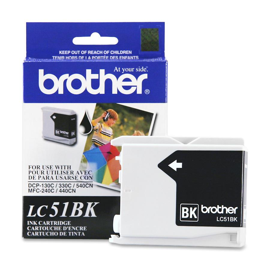 Brother, BRTLC51BK, LC51 Series Ink Cartridge, 1 Each